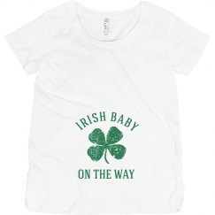 Irish Baby on the Way Irish Maternity Top