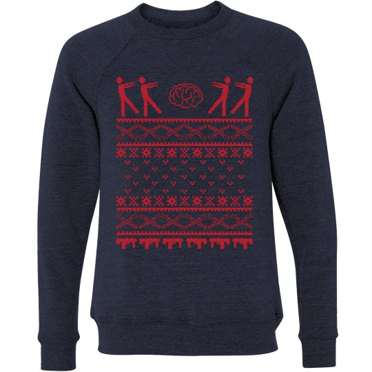 Zombie Christmas Sweater.Zombie Ugly Sweater