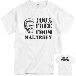 Joe Biden 100% Free From Malarkey