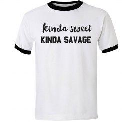 Kinda Sweet, Kinda Savage Ringer Tee