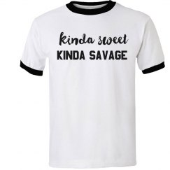 Kinda Sweet, Kinda Savage Ringer Tee