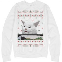 Seated Confused Cat Sweater