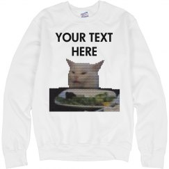 Custom Text Confused Cat Sweater