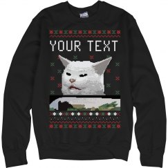 Christmas Custom Confused Cat Sweater