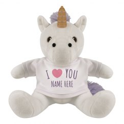 Custom I Love You Plush