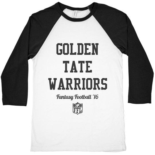 5f2058a59 Fantasy Football Golden Tate Tee Unisex 3 4 Sleeve Raglan T-Shirt