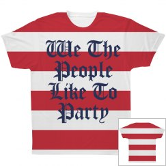 We The People All Over Print