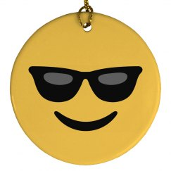 Very Cool Emoji Ornament