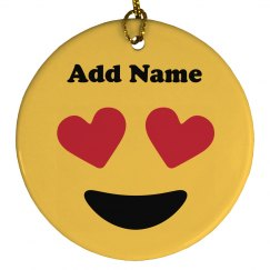 Custom Name Emoji Ornament