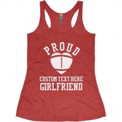 Custom Proud Football Girlfriend