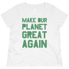 Make our planet great again light green plus size shirt