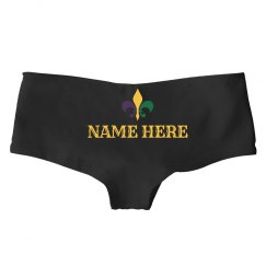 Custom Name Mardi Gras Panties