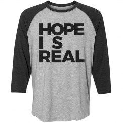 HOPE IS REAL [VINTAGE BASEBALL TEE]