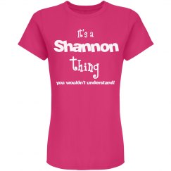 It's a Shannon thing