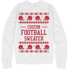 Custom Ugly Sweater Football