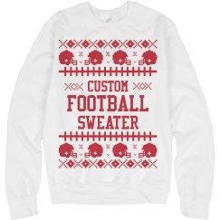 Custom Ugly Sweater Football