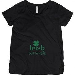 Irish Outta Here Maternity Top