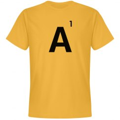 Word Games Costume, Letter Tile A