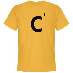 Word Games Costume, Letter Tile C