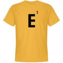 Word Games Costume, Letter Tile E