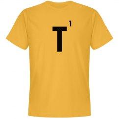 Word Games Costume, Letter Tile T