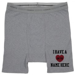 Custom Valentines Day Boxers
