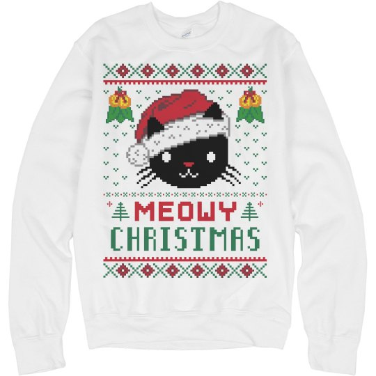 Meowy Christmas Sweater.Meowy Christmas Sweater