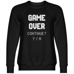 Game Over Continue Design