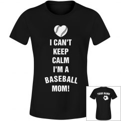 Baseball Mom Keep Calm