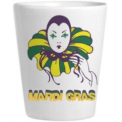 Mardis Gras Shot Glass