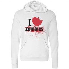 I Love Zombies Hoodie