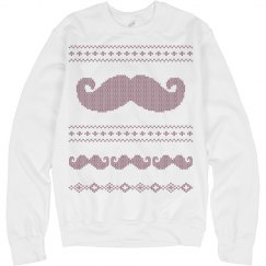 The Mustache Xmas Sweater