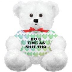Allover Print Hearts Dirty Bear