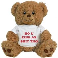 Funny Slang Valentine Bear