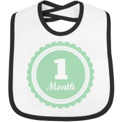 Cute Baby Gift One Month Old Bib