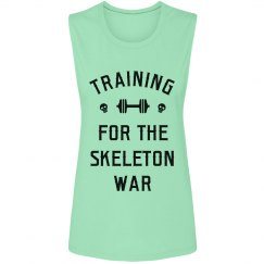 Cute Skeleton War Training Design
