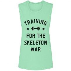 Cute Skeleton War Training Design