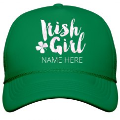 Custom Irish Girl St. Patrick's Hat
