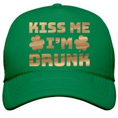 Metallic Kiss Me St. Patrick's Hat