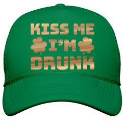 Metallic Kiss Me St. Patrick's Hat