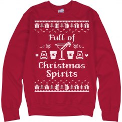 Full of Christmas Spirits Sweatshirt