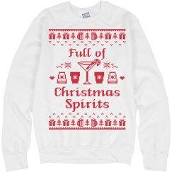 Full of Christmas Spirits Sweatshirt
