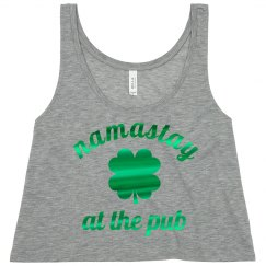Namastay At The Pub Green Metallic