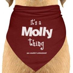 It's a Molly thing dog bandana