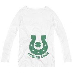 Coming Soon St Patricks Maternity Top
