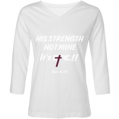 E.P.I.C. 4:13 - Women's V-Neck & Three Quarter Shirt