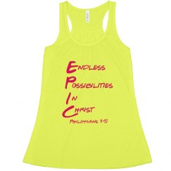 E.P.I.C. 4:13 - Women's Racerback Acronym Shirt