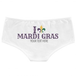 I Heart Mardi Gras Panties Custom