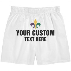 Custom Mardi Gras Boxer Shorts