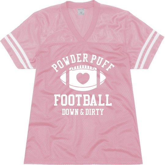 Powderpuff Jersey Ladies Relaxed Fit Mesh Football Jersey 5ece589de